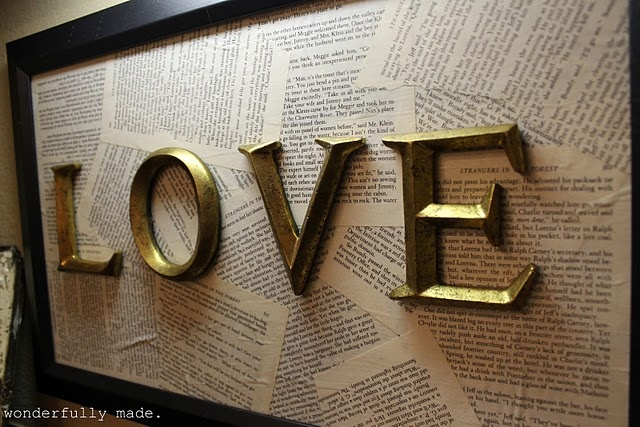 DIY LOVE Sign, spray paint love and make the background deployment letters? headboard?