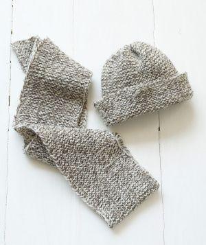 Loom Knit Tweedy Hat & Scarf Loom knit, Hats and Scarfs