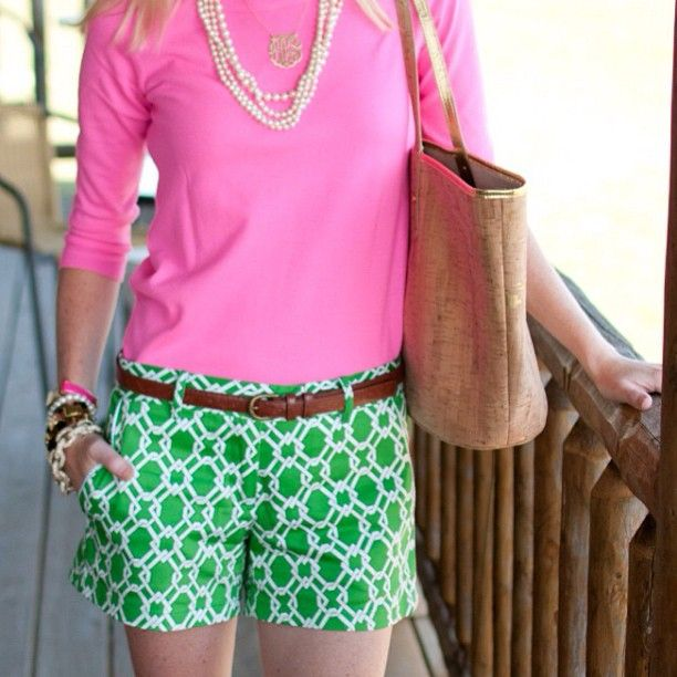 Kelly Green + Pink