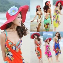 1 adet Yeni Derin V Wrap Şifon Mayo Bikini Cover Up Sarong Plaj Şal Atkılar Elbise Sıcak echarpes foulards femme(China (Mainland))