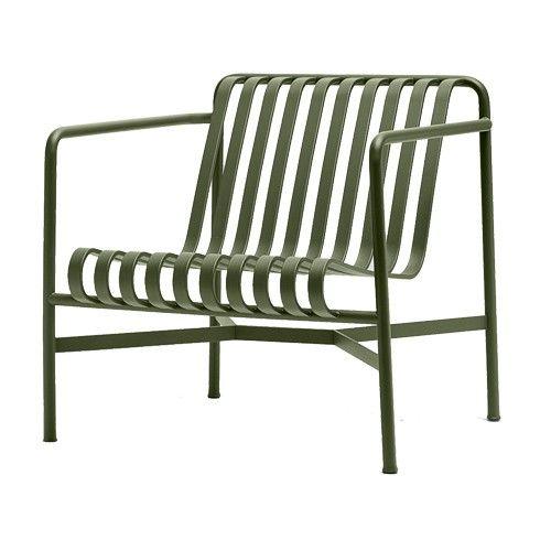 De Palissade Lounge Stoel is gemaakt van gepoedercoat staal. Afmetingen: b 73 cm x d 81 cm x h 70 cm, zithoogte 38 cm.