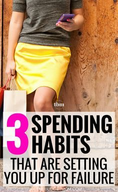 We are all guilty of a few bad financial habits. Are you doing any of these three things that are setting you up to fail financially? Save Money | Personal Finance | Money | Frugal via @The Budget Mom | Budget Tips, Save Money, Get out of Debt and More!