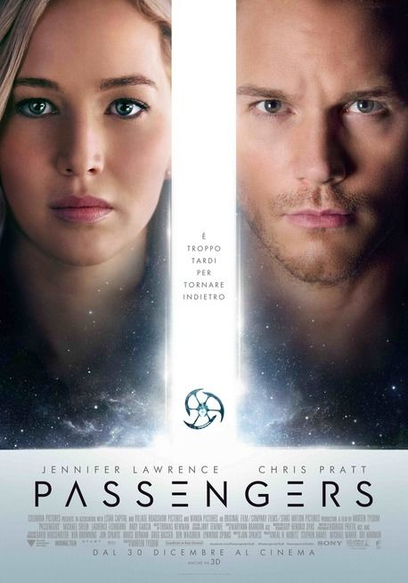 Passengers USA: 2016 Genere: Fantascienza Durata: 116' Regia: Morten Tyldum Con: Jennifer Lawrence, Chris Pratt, Michael Sheen, Laurence Fishburne,