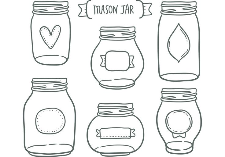 Need a cute mason jar vectors for your next project? This new cute  mason jar vector illustration is probably just what you need.