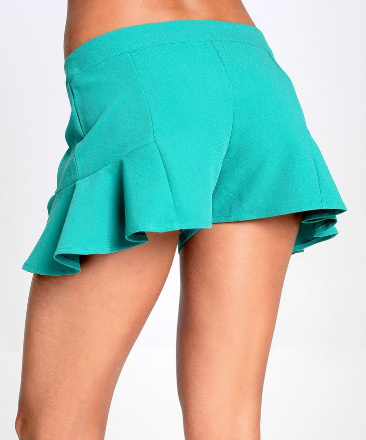 Love this Sara Boo Green Pleat Accent Shorts by Sara Boo on #zulily! #zulilyfinds