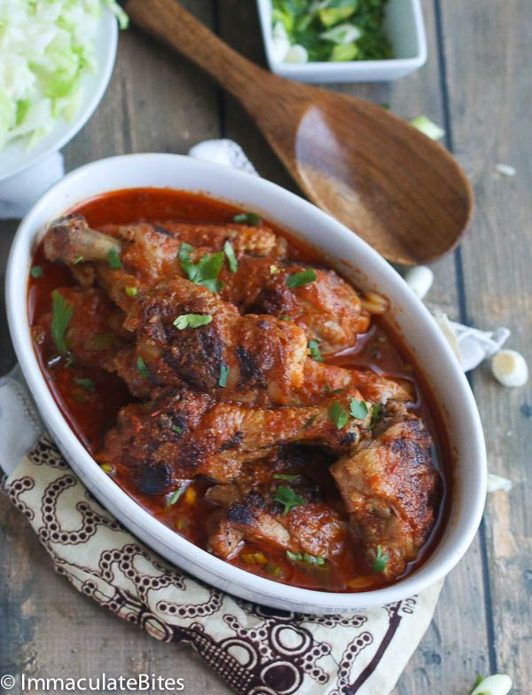 Quick and Easy Fragrant African Chicken Stew with Garlic, Onions and Spices. A Great Weeknight meal.