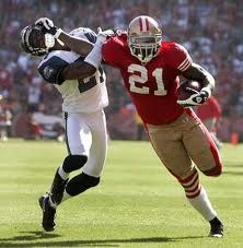 Frank Gore showing off his strength.