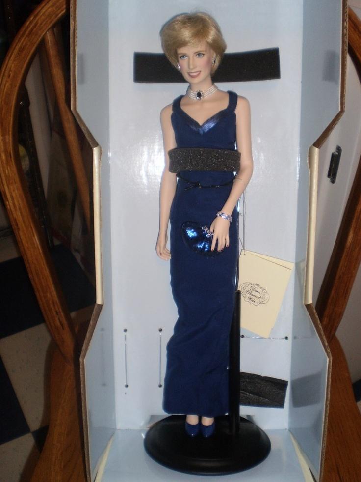 Franklin Mint Princess Diana Porcelain Doll Blue Dress  eBay  SORT  Dolls Princess diana Barbie