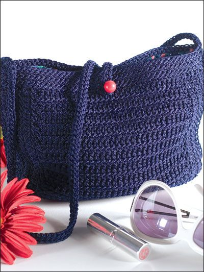 nylon crochet purse