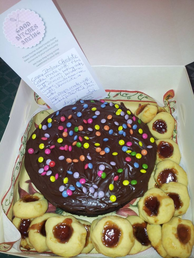 Crazy Italian Chocolate Cake and Jam Drops all ready to go to Wellington Night Shelter by Di White