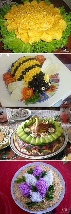 Decoration salads.  Ideas.  - 2.