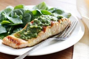 Smart Balance Recipe - Grilled Salmon with Pesto