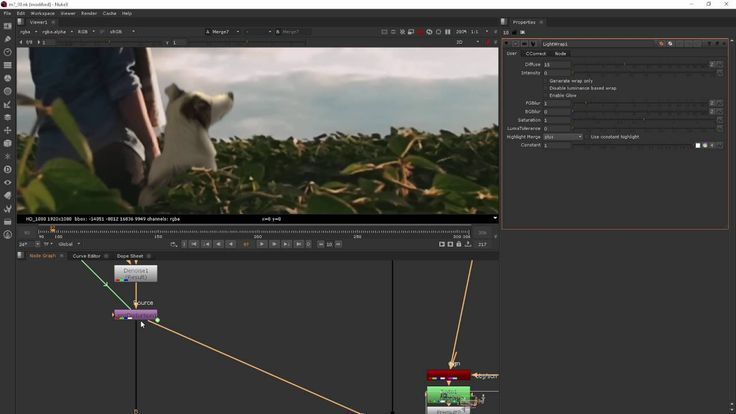 Module 7 Adding Effects - NUKE for After Effects users, part8 (LIGHTWRAP)