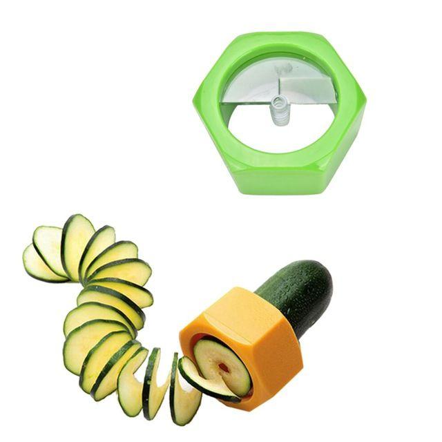 1 unid Herramientas de Tallado de Frutas máquina de Cortar el Pepino Pepino Slicer Cortador/Rodajas de Pepino Herramientas/Pepino Máscara Facial de la Cocina del Cortador Gadgets