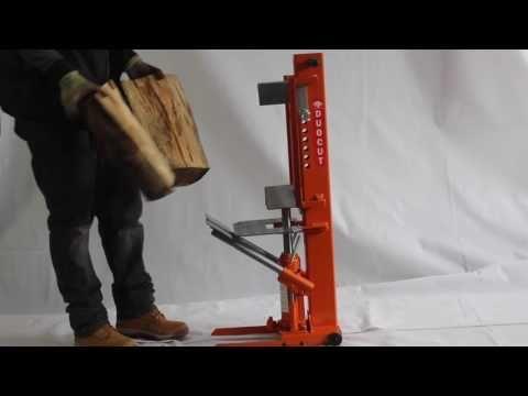 Forest Master DUO10T manual log splitter - YouTube
