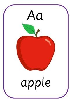 A flashcards Flashcards for toddlers, Jolly phonics