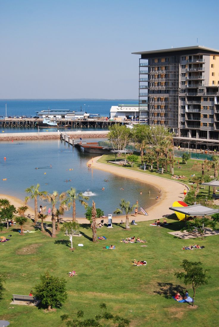 Take a swim at the Lagoon Pool at Darwin's Waterfront. Northern Territory #Australia