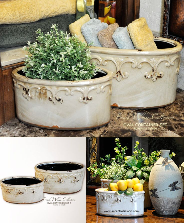 Large Decorative Containers at Accents of Salado