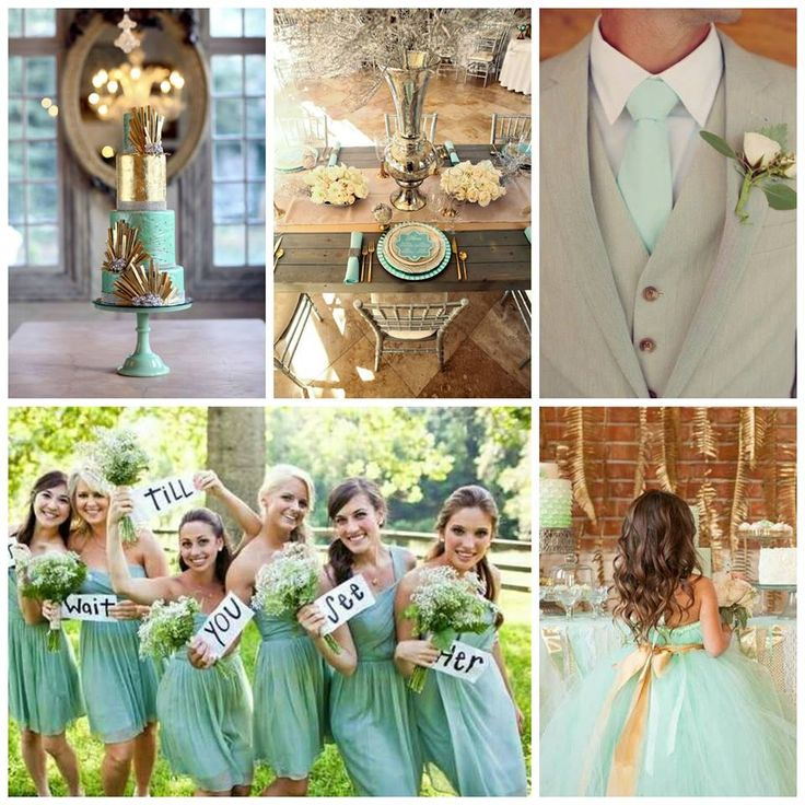 Mint and Gold Wedding Inspriations