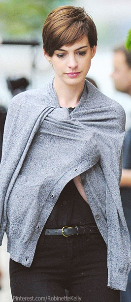 Ann Hathaway | Street Style - this is what I think I look like in my head