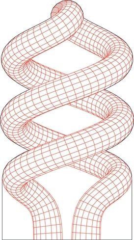 Spiral lamp 3D illusion vector drawing
