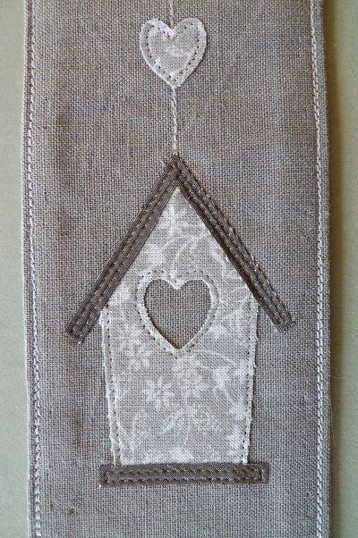 Segnalibro handmade in tessuto grigio – home