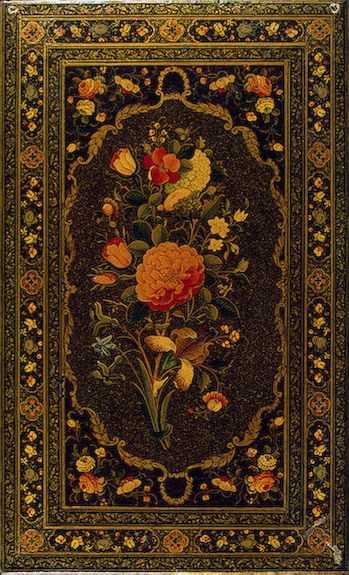book binding papier mache lacquer 19s iran