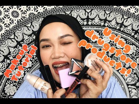 Drugstore Makeup Tutorial (MALAY language) - YouTube