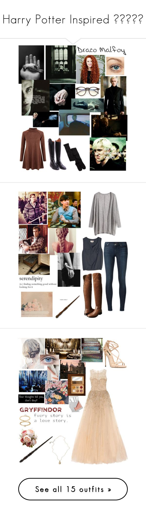 """""""Harry Potter Inspired 😉✍🏻📚📕"""" by alisa-avery ❤ liked on Polyvore featuring Converse, New Look, American Eagle Outfitters, Wildfox, Gucci, Neville, J Brand, Tory Burch, WALL and Dolce&Gabbana"""