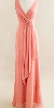 Aegon 2 silk chiffon long dress Q1010 by idea2lifestyle on Etsy - gorgeous cut for my bridesmaids