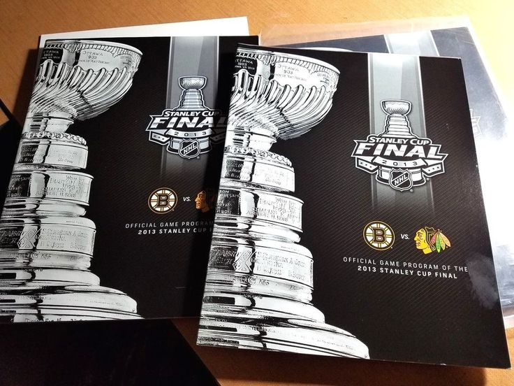 2013 Chicago Blackhawks vs. Boston Bruins Stanley Cup Final Program #BostonBruins
