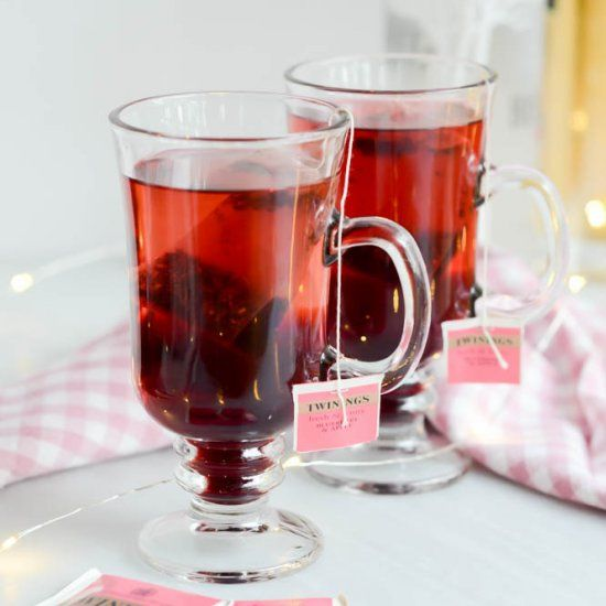 This Elder-Berry Tea Cocktail is the perfect drink to make on a cold-weather weekend!
