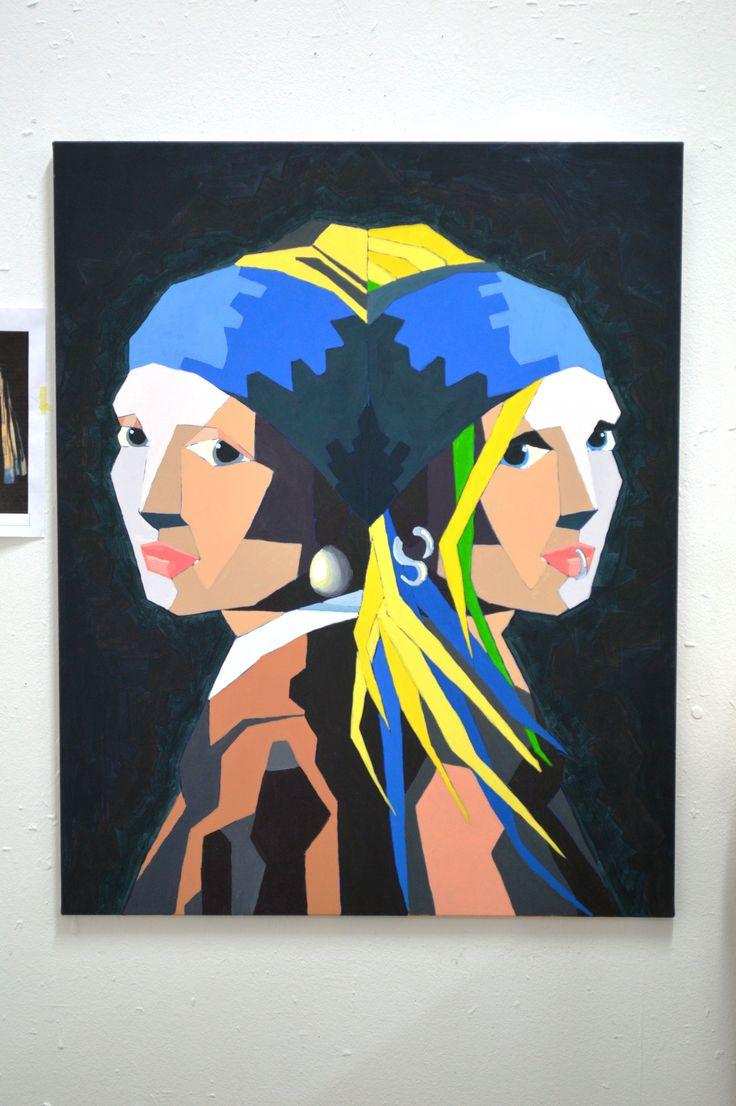 """Parafrase over """"Pige med perleørering"""" af Johannes Vermeer Engelsholm 2014"""