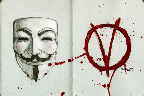 V For Vendetta Mask Drawing 62 best V for Vendetta...