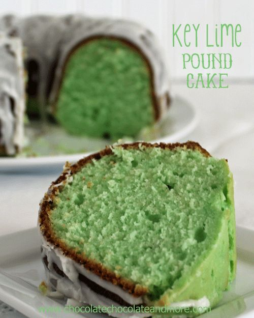 Key Lime Pound Cake: 1 cup butter, softened, 2 cups granulated sugar, 3/4 cup buttermilk, 1/3 cup key lime juice, 5 large eggs, 3 cups all purpose flour, 1 1/2 teaspoons salt, 1/2 teaspoon baking powder,  1/2 teaspoon baking soda, green food coloring , (opt); Glaze - 2 cups powdered sugar, 3-4 T key lime juice.