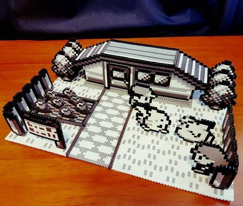 Inspired by the original Pokemon Red and Pokemon Blue gameboy games, the Christina Garret created this incredible diorama out of perler beads.