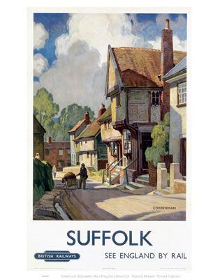 #Coddenham #Village #Vintage #Rail #Railway #Train #Poster #Posters #Prints #Print #Art #UK #Britain #British #Old #Travel #Suffolk www.vintagerailposters.co.uk