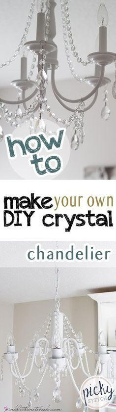 Best 25 diy chandelier ideas on pinterest no light for How to make your own chandelier