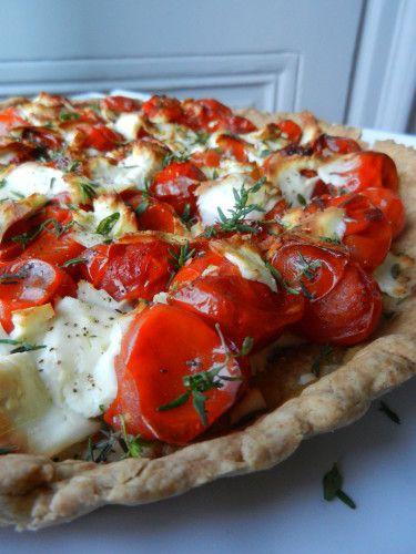 TARTE TOMATES CERISES/FETA - C secrets gourmands!! Blog de cuisine, recettes faciles, à préparer à l'avance, ...
