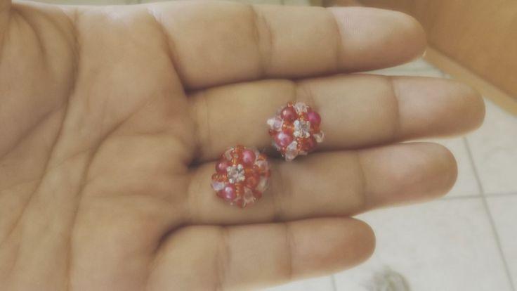 Pink Small earrings lobe di ArtigianatoLiliana su Etsy