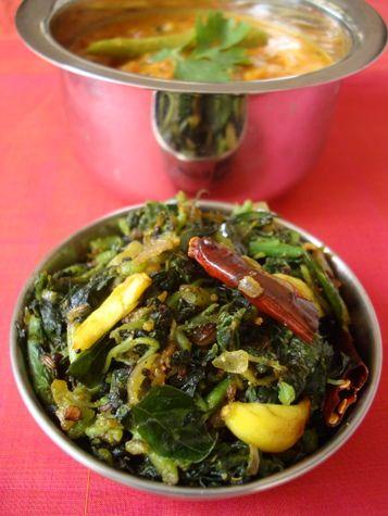 Thotakura Vepudu ~ Amaranth leaves stir fry (3)