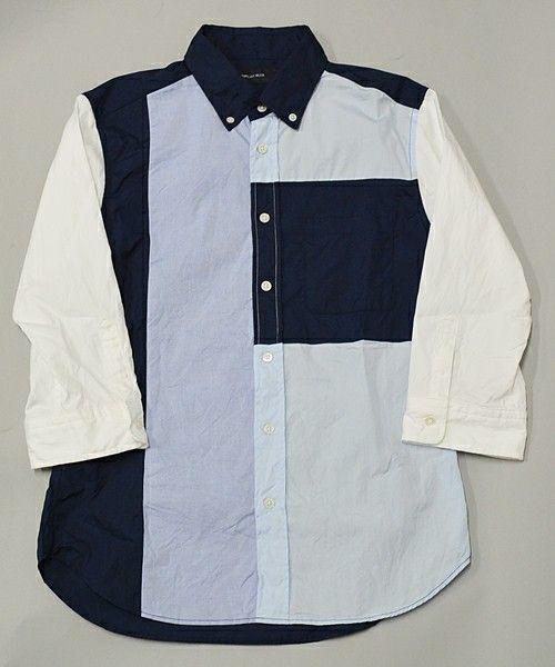 SHIPS JET BLUE(シップスジェットブルー)のJB: パッチワーク BD 7スリーブシャツ■(シャツ・ブラウス) 詳細画像
