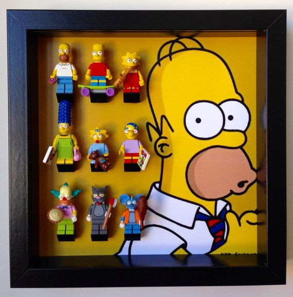 #Lego #Simpsons series minifigures Frame. Display Case for Lego Simpsons Minifigure, holds Minifig  **Exclusive** #LegoMinifigures #LegoSimpsons  http://www.minifiguresdisplay.com
