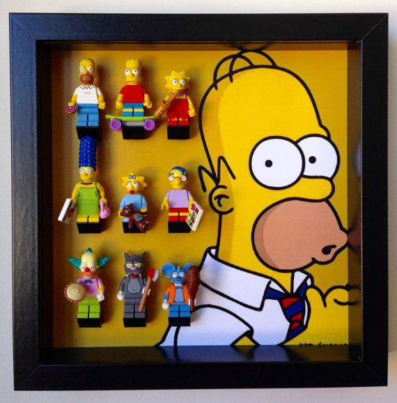 Lego Simpsons series minifigures Frame. Display Case for Lego Simpsons Minifigur
