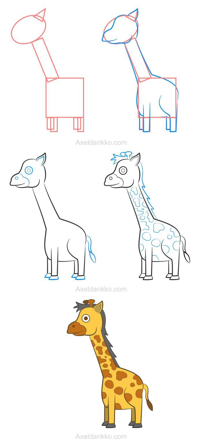 les 25 meilleures id 233 es de la cat 233 gorie comment dessiner une girafe sur kawaii