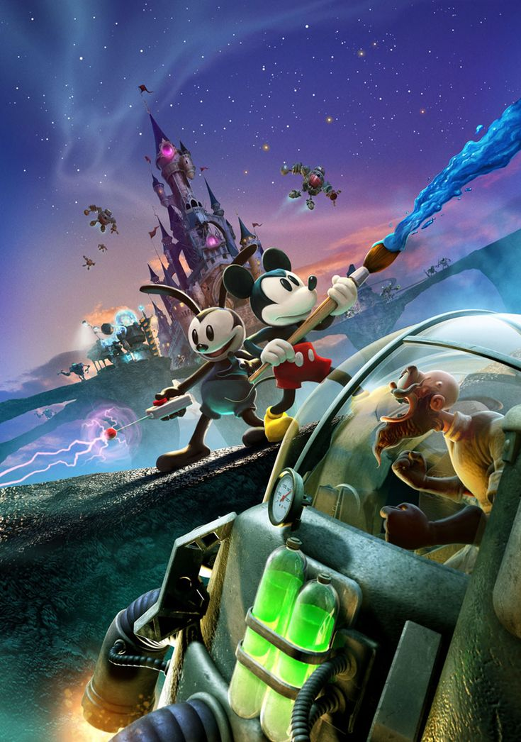 Epic Mickey 2: The Power of Two - Promo Poster