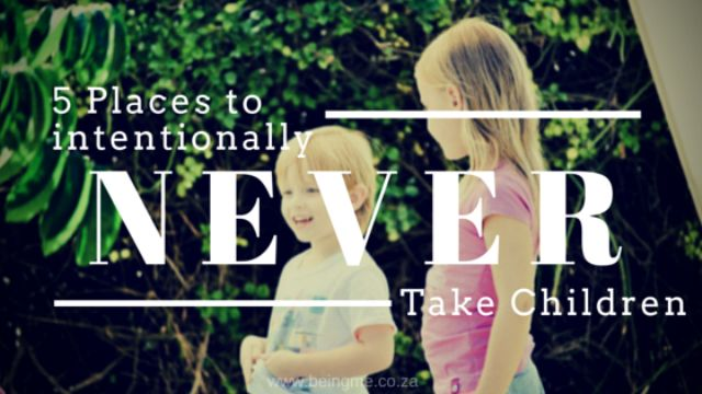 Taking a funny look at running errands with children. #parenting #momlife   5 Places to intentionally NEVER take your children. - Being Me - With Celeste
