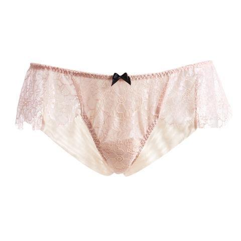 Pink Classic Low Rise Lace Brief  #AkikoOgawa #Lingerie #2016AW #SEDUCTION www.aolingerie.com