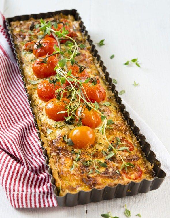 Baking/Leivonta: Tomato leek and cheese pie/purjo-tomaatti-juustopiiras