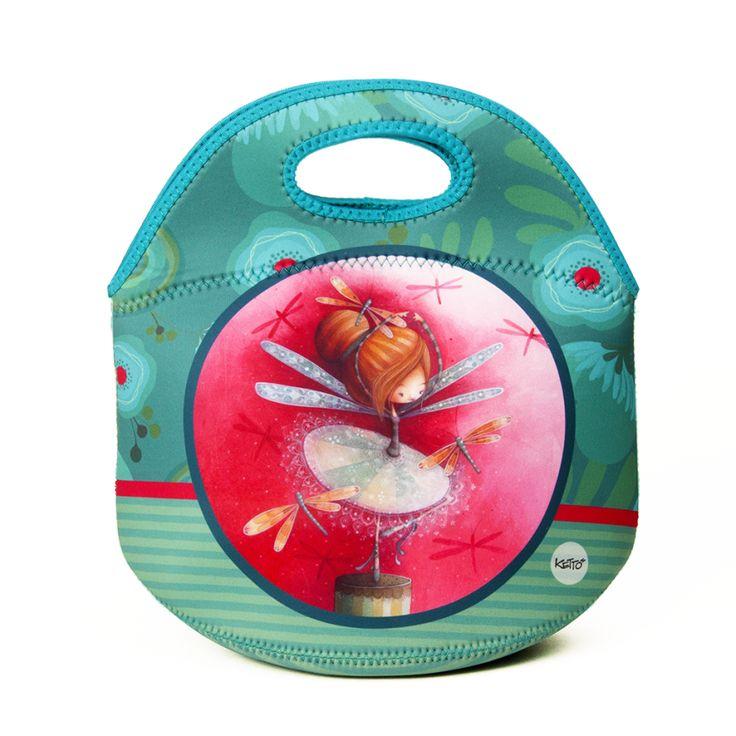 Une boîte à lunch aussi mignonne & colorée que pratique // Boîte à Lunch Mignonette Erika KETTO Lunch Bag Sweet Erika // Sans isolant à l'intérieur. Fermeture éclair. Se lave à la machine. // Without thermal insulation. Zipper closure. Machine washable. // #BoîteÀLunch #Lunchboxe #Ketto